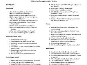 """301 идеја за аргументирано пишување есеи на различни теми од """"Њујорк Тајмс"""""""